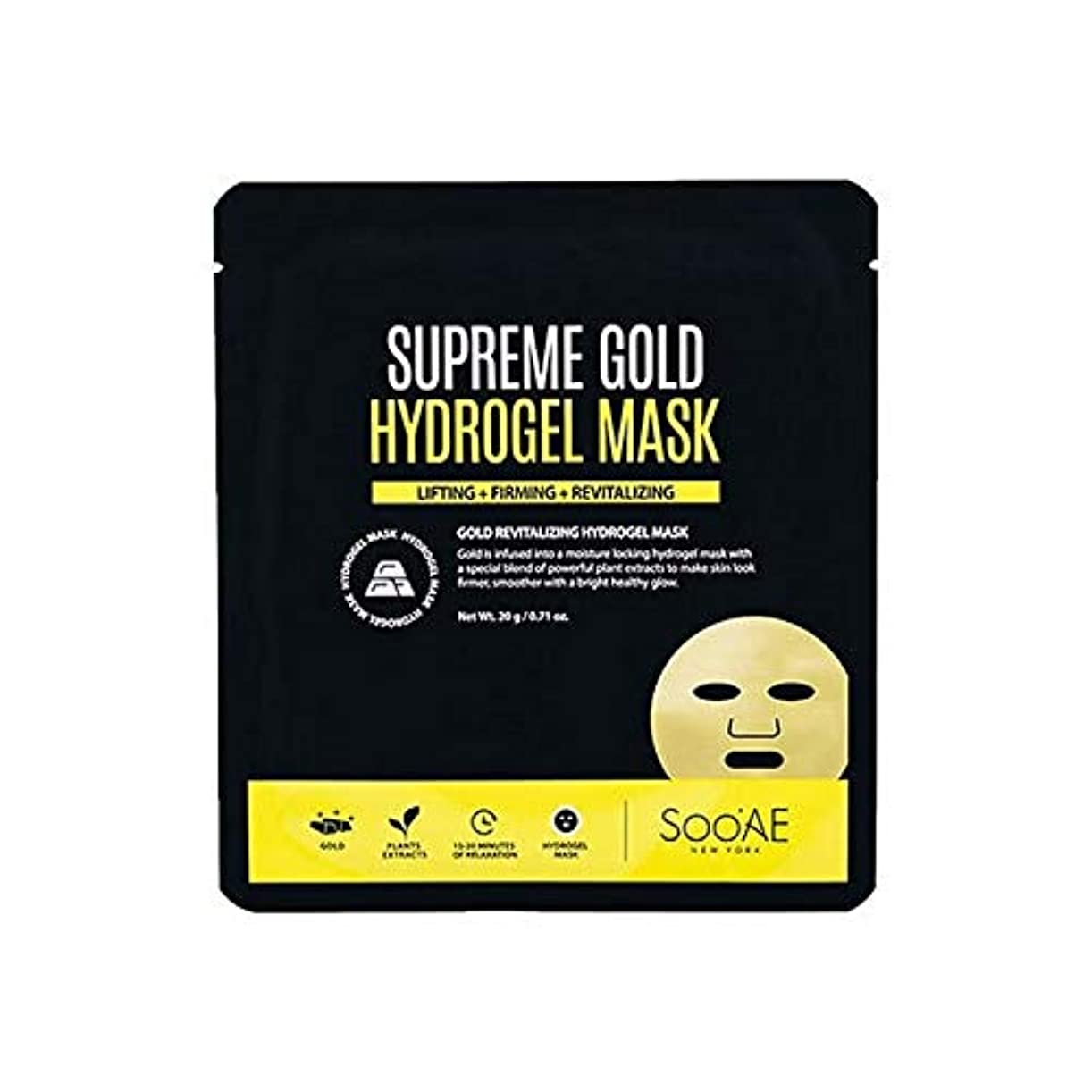 下向き水星一握り[SooAe] Soo'Ae最高の金のハイドロゲルマスク - Soo'Ae Supreme Gold Hydrogel Mask [並行輸入品]