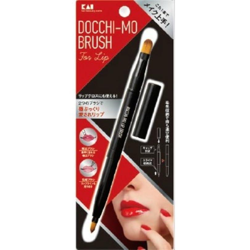 サンダル間欠急勾配の貝印 Docchi-mo Brush for Lip