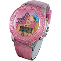JoJo Siwa Glitter Rotating Flash Kids LCD Watch