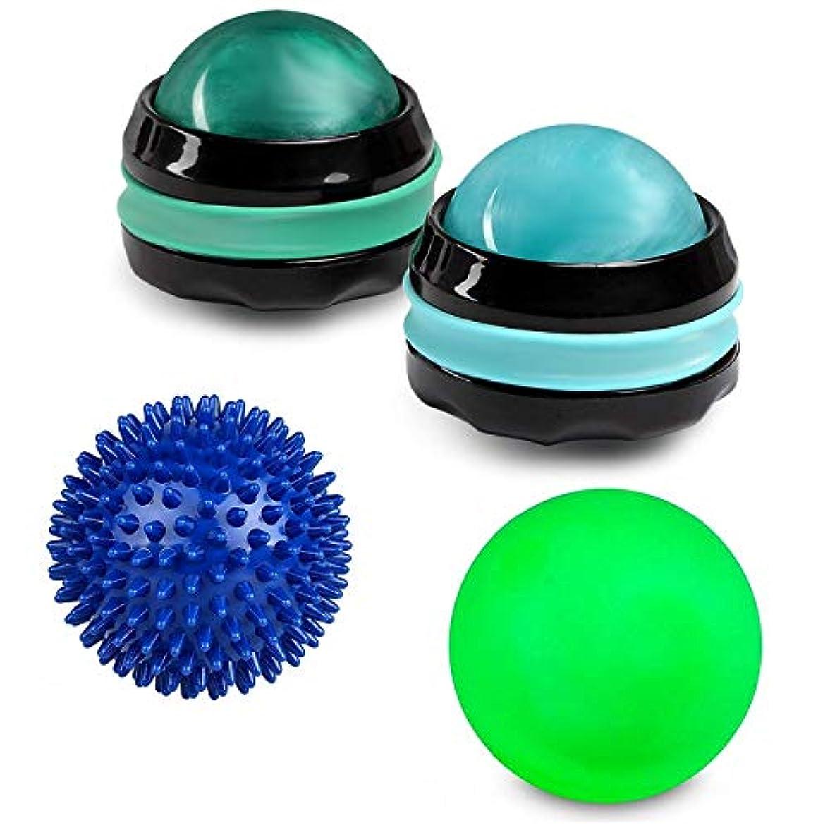 と染色寸前Massage Ball Set - Foot Body Back Leg Neck Hand Rejuvenation Therapy Roller Massager Therapy (Bundle: 1 Lacrosse...