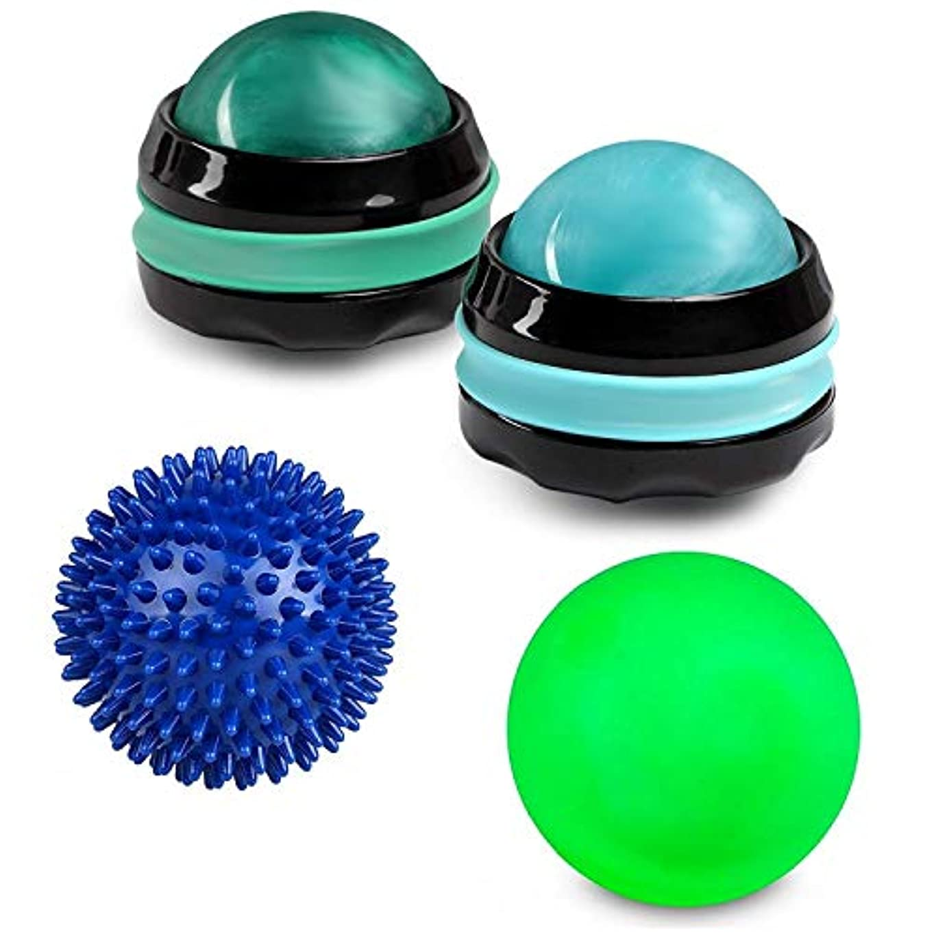 Massage Ball Set - Foot Body Back Leg Neck Hand Rejuvenation Therapy Roller Massager Therapy (Bundle: 1 Lacrosse...