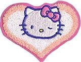Hello Kitty【ワッペン ★アイロン アップリケ★ キティちゃん・もこもこハート P-HK-12】【並行輸入品】