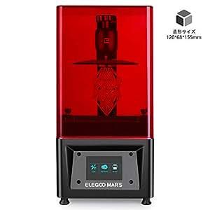 ELEGOO MARS UV 光造形式 3Dプリンター タッチスクリーン 停電リカバリ 高精度 120x68x155mm (黒色)