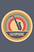 Saxophone: Retro Vintage Notebook 6 x 9 (A5) Graph Paper Squared Journal Gift for Saxophonists And Saxophone Players (108 Pages)