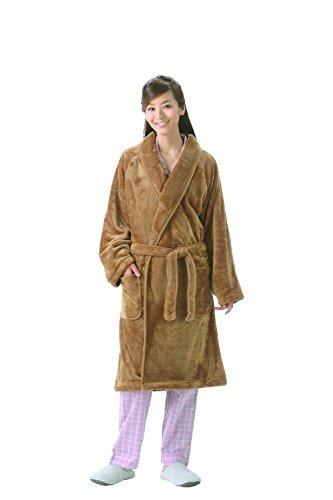 着る毛布 暖かガウン キャメル M~L 男女兼用...