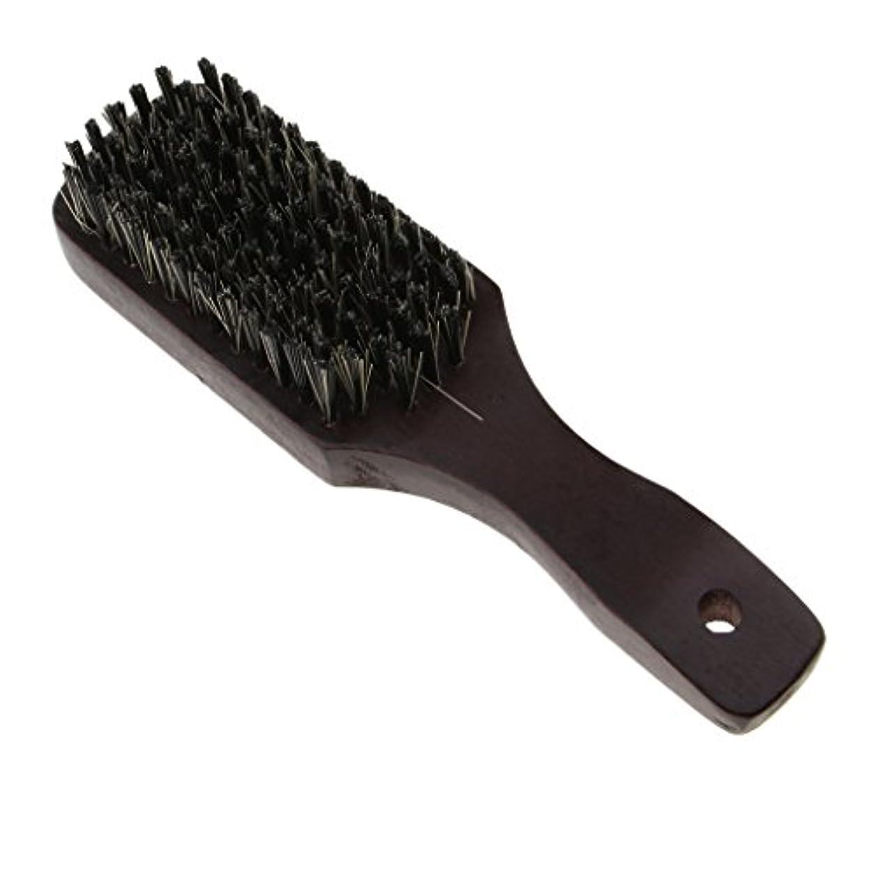普通に縁洞察力のあるナチュラルビアブラシ 男性 剛毛ブラシ ひげ 口ひげ 木製櫛