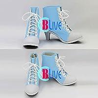 ●●サイズ選択可●●I0128ZCI コスプレ靴 ブーツ DanceEvolution ARCADE ダンスエボリューション 西園寺 あかり 女性24.5CM