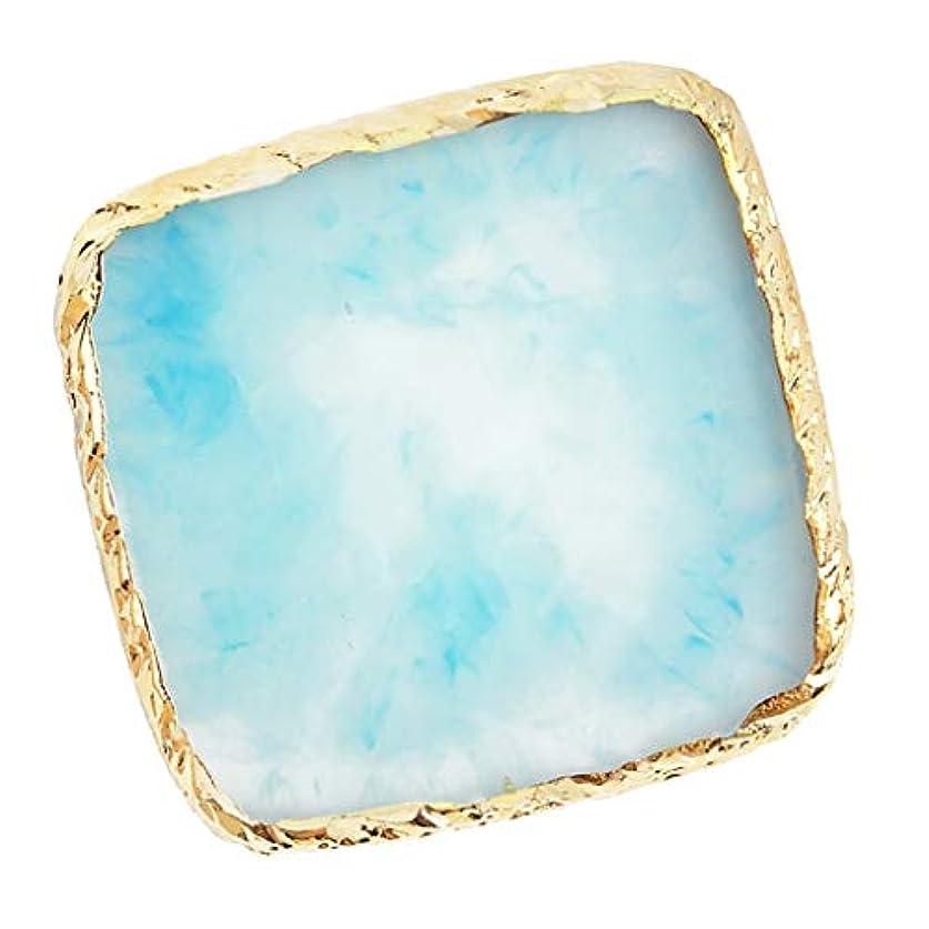 花瓶上げる何よりもB Baosity ネイルアート イング カラー パレット ミキシングパレット 6色選べ - 青