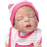 NPK 50 cm Full Body Silicone Magnetic Lovely Lifelike Reborn Baby Doll Girl 20