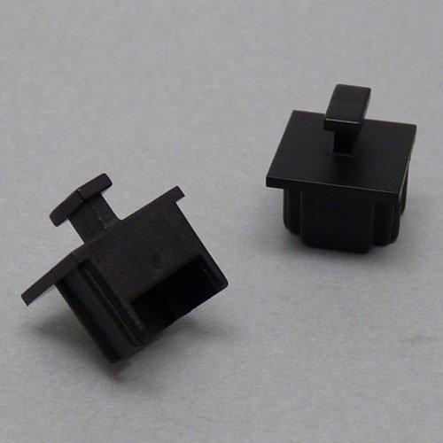 テクノベインズ RJ11(6極),RJ12, RJ14, RJ25用キャップ(黒)つまみあり 6個/パック RJ11CAPK-B1-6