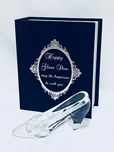 お名前入りガラスの靴HappyGlassShoe