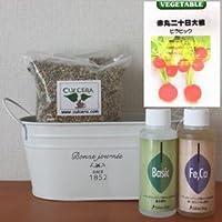 赤丸二十日大根(ピラピック)の栽培セット/豊作セット(液体肥料付き)プランターホワイト仕様