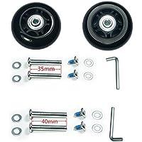 Wear-Resistant Mute Luggage Suitcase Wheels Rubber Swivel Caster Wheels Repair Kits 70 x 24mm