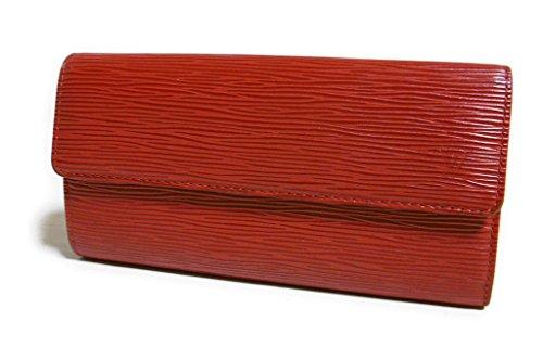 LOUIS VUITTON(ルイヴィトン) エピ 二つ折り長財布「ポシェットポルトモネクレディ」 ルージュ M6359E