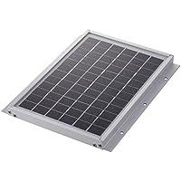 【5W 表面取付ソーラーパネル・厚み1.8cm】GWSOLAR太陽光パネル、表面取付・高品質、12vシステム 蓄電/キャンピングカー充電に最適、表面取付穴6個、ケーブル付属、ソーラーパネル表面から簡単に設置(SM-500H)GWソーラー (5Wソーラーパネル)