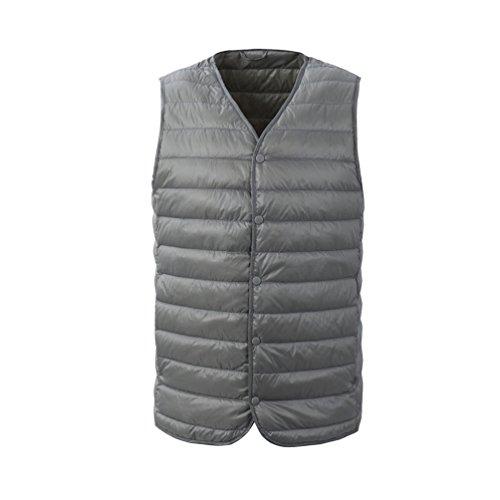 [해외](하이 하트) Hiheart 다운 베스트 남성 V 넥 초경량 속옷 다운 베스트 대형 겨울 방한복 실내복/(High Heart) Hiheart Down Vest Men`s V Neck Ultra Lightweight Inner Down Vest Large Size Winter Cool Dress 着 着 Atari