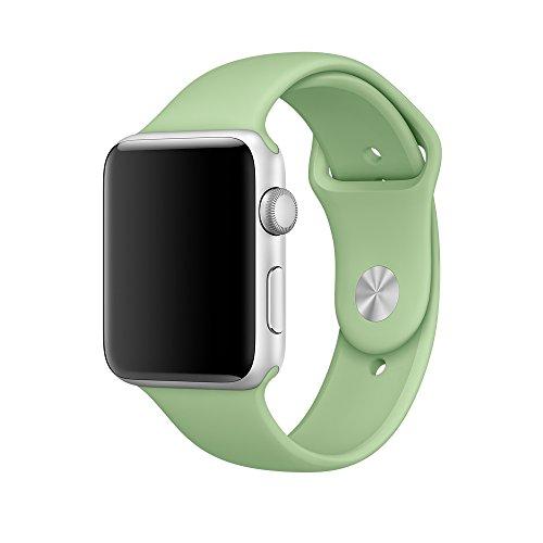Apple Watch バンド、XMDirect スポーツバンド シリコーン 全機種対応 for Apple Watch Series 1 / Series 2 / Nike+ 【38mm、ミント、S/M & M/L】