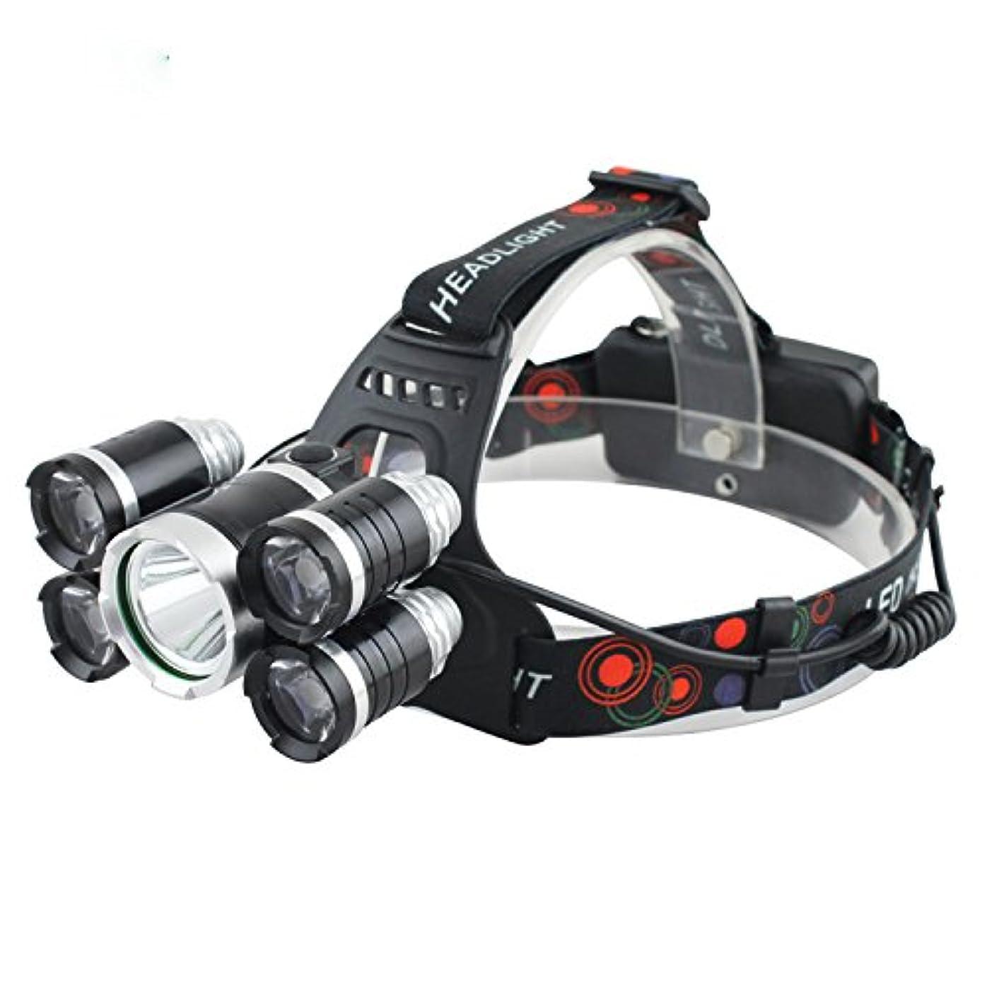 理論的ハンドブック万一に備えてスーパーブライト Ledヘッドランプ5 ledヘッドライト照明XML t6 4 q 5ヘッドランプ強力なledヘッドライト18650充電式電池キャンプ用ライディング読書雨天