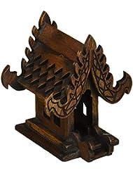 デザインunseenthailandタイ仏教でハンドメイドチーク材木製Spirit家。 W4