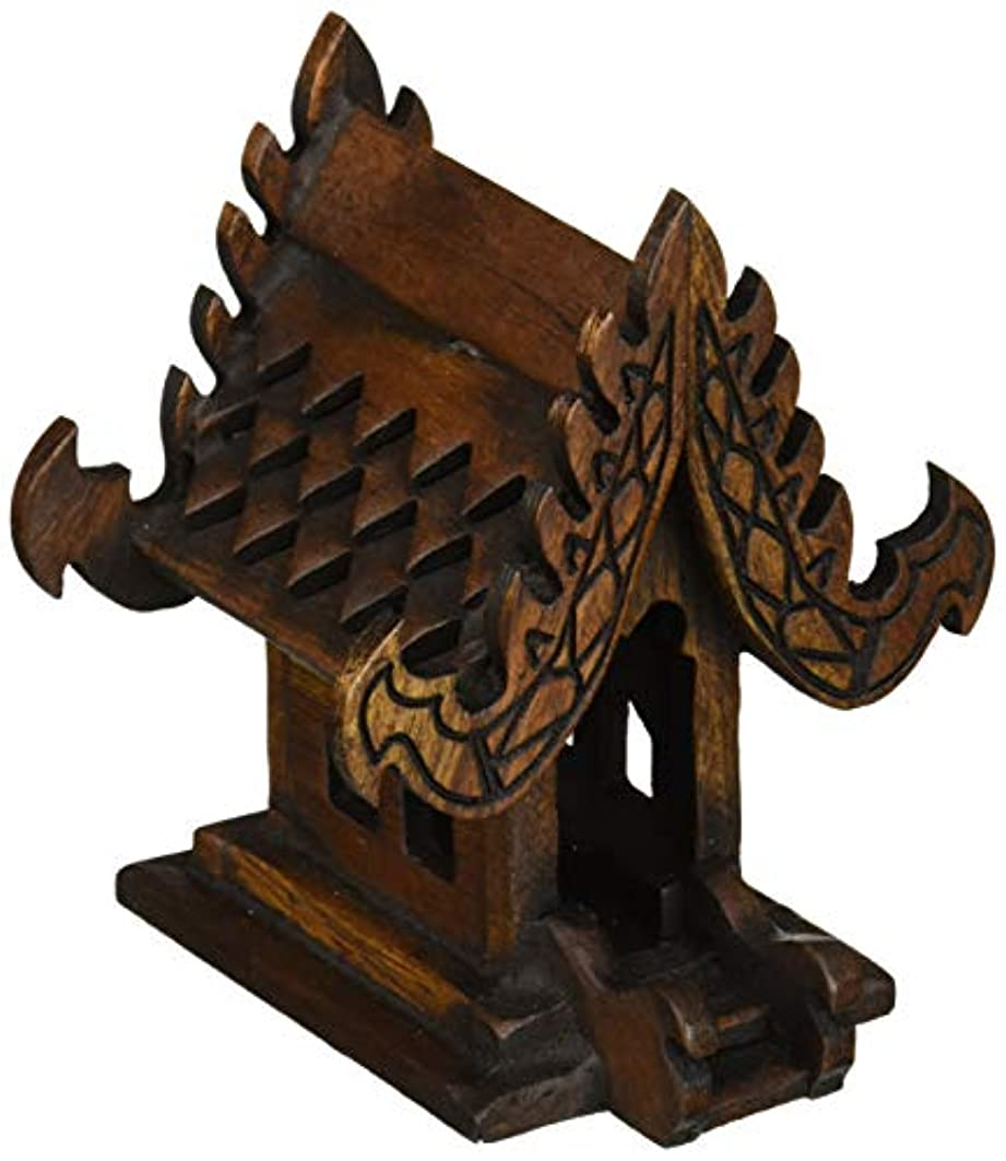 味取得急降下デザインunseenthailandタイ仏教でハンドメイドチーク材木製Spirit家。 W4