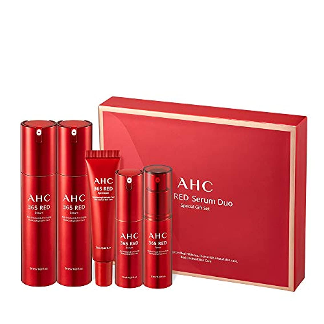 ブル船尾長さAHC 365 Red Serum Duo Special Gift Set レッド血清デュオスペシャルセット Anti-Aging Total Care 韓国化粧品 Korean Beauty Set