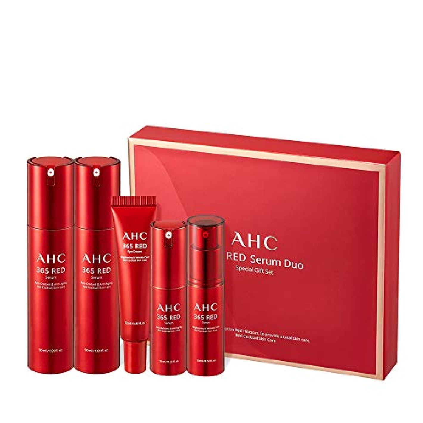 今まで名詞実行するAHC 365 Red Serum Duo Special Gift Set レッド血清デュオスペシャルセット Anti-Aging Total Care 韓国化粧品 Korean Beauty Set