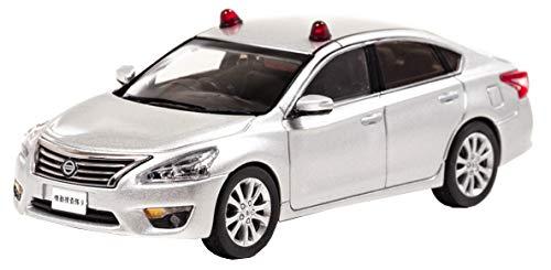 1/43 RAI'S 日産 ティアナ XE (L33) 2016 警察本部刑事部機動捜査隊車両 (2灯仕様) [銀]