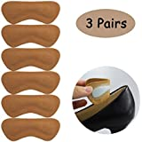 Leather High Heel Insert Pads Grips Liner f for Shoes That are Too Big for Women Men, Anti Slip Blister, 3 Pairs (Yellow)
