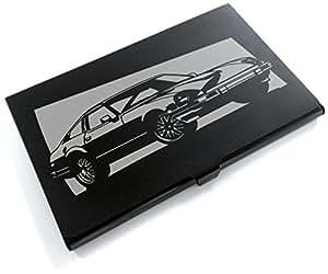 ブラックアルマイト「日産(NISSAN) フェアレディZ S130 」切り絵デザインのカードケース[CC-044]