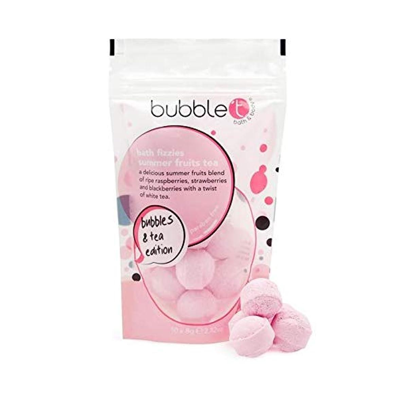 含める家具軽食[Bubble T ] バブルトンの夏の果物風呂爆弾Fizzersの5グラム - Bubble T Summer Fruits Bath Bomb Fizzers 5g [並行輸入品]