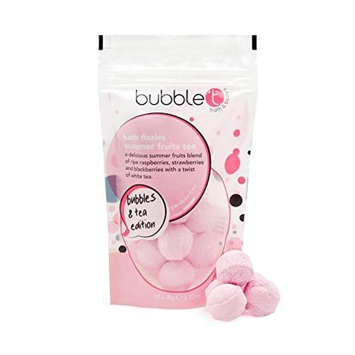 ソビエト食器棚ルビー[Bubble T ] バブルトンの夏の果物風呂爆弾Fizzersの5グラム - Bubble T Summer Fruits Bath Bomb Fizzers 5g [並行輸入品]