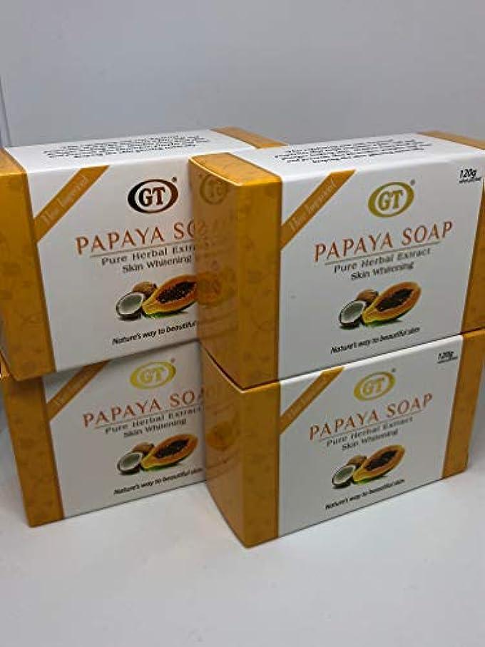 パトワ起きろヨーグルトGT COSMETICS 無添加 ココナッツ&パパイヤ ソープ 120g 4個セット 正規輸入代理店