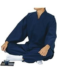 踊り衣裳 ドビー織作務衣 作印 濃紺 メンズ レディース