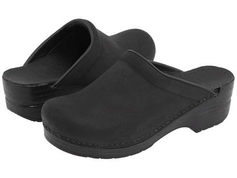 (ダンスコ) Dansko レディースクロッグズ?ミュール?スライド?靴 Sonja Black Oiled US Women's 6.5-7 23.5-24cm Regular [並行輸入品]
