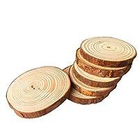 天然丸型木製コースター カップマット 6枚セット 紅茶 コーヒーマグ ドリンクホルダー テーブルマット ドリンク用木製コースター L YUSP-cRnf580-4