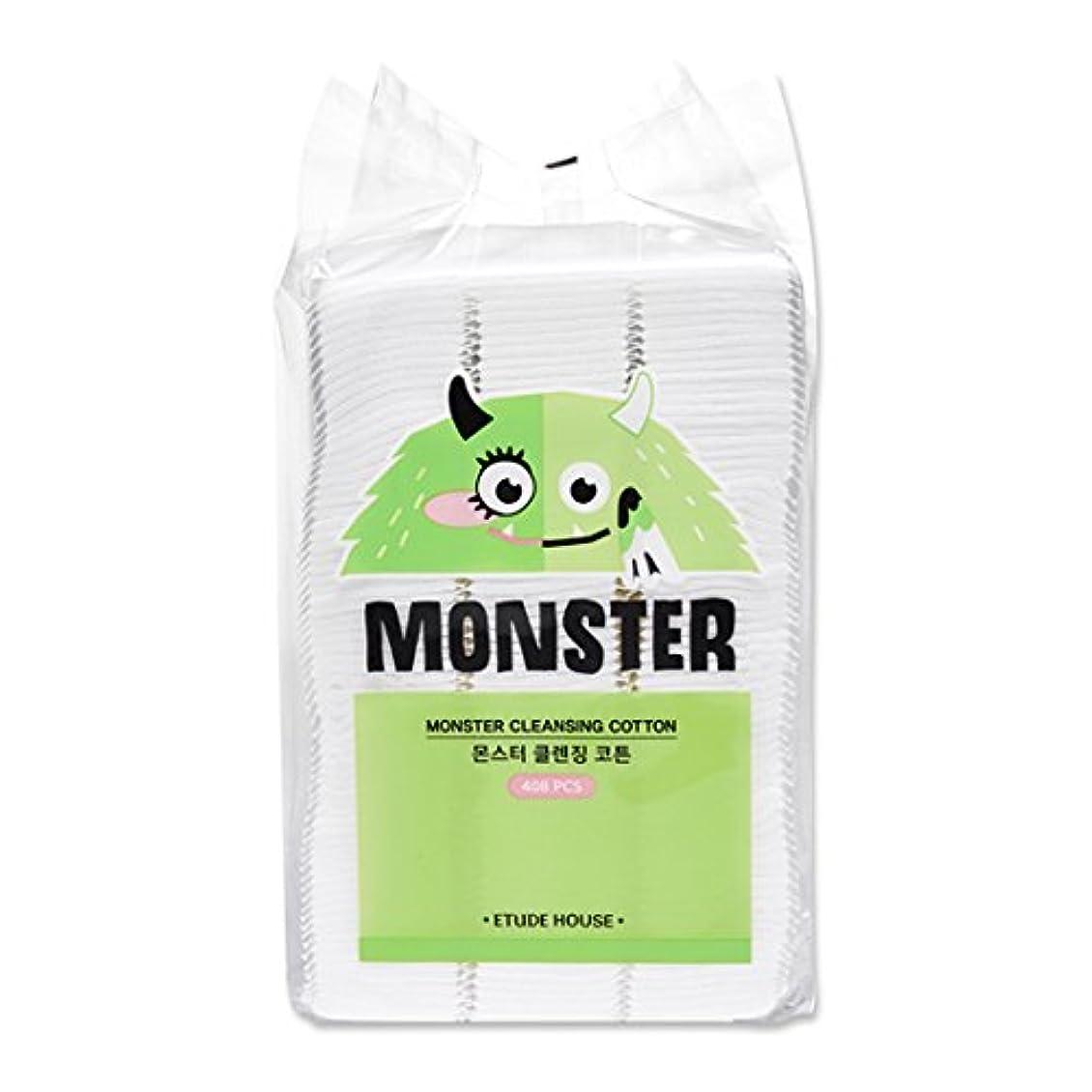 禁輸帆おばあさんETUDE HOUSE Monster Cleansing Cotton / エチュードハウス モンスター クレンジング コットン 408枚 [並行輸入品]
