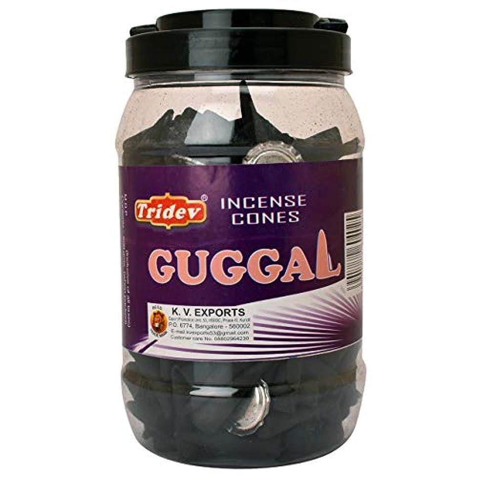 兵士つまずく触手Tridev Guggal Incense Cones Jar 500グラムパック