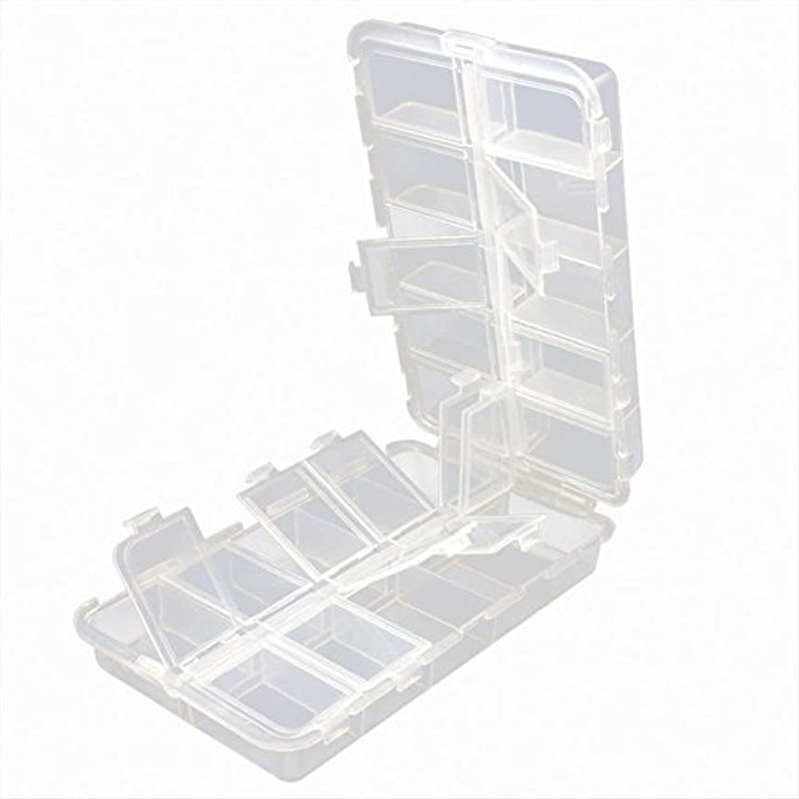 助言する歩き回る誘導EDTara フィッシングタックルボックス ポータブル プラスチック 透明 折りたたみ 釣りルアー フック ベイト 収納ボックス ケースコンテナ