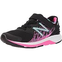 New Balance Girls' Urge v2 Hook and Loop Running Shoe, Black/Pink Glo
