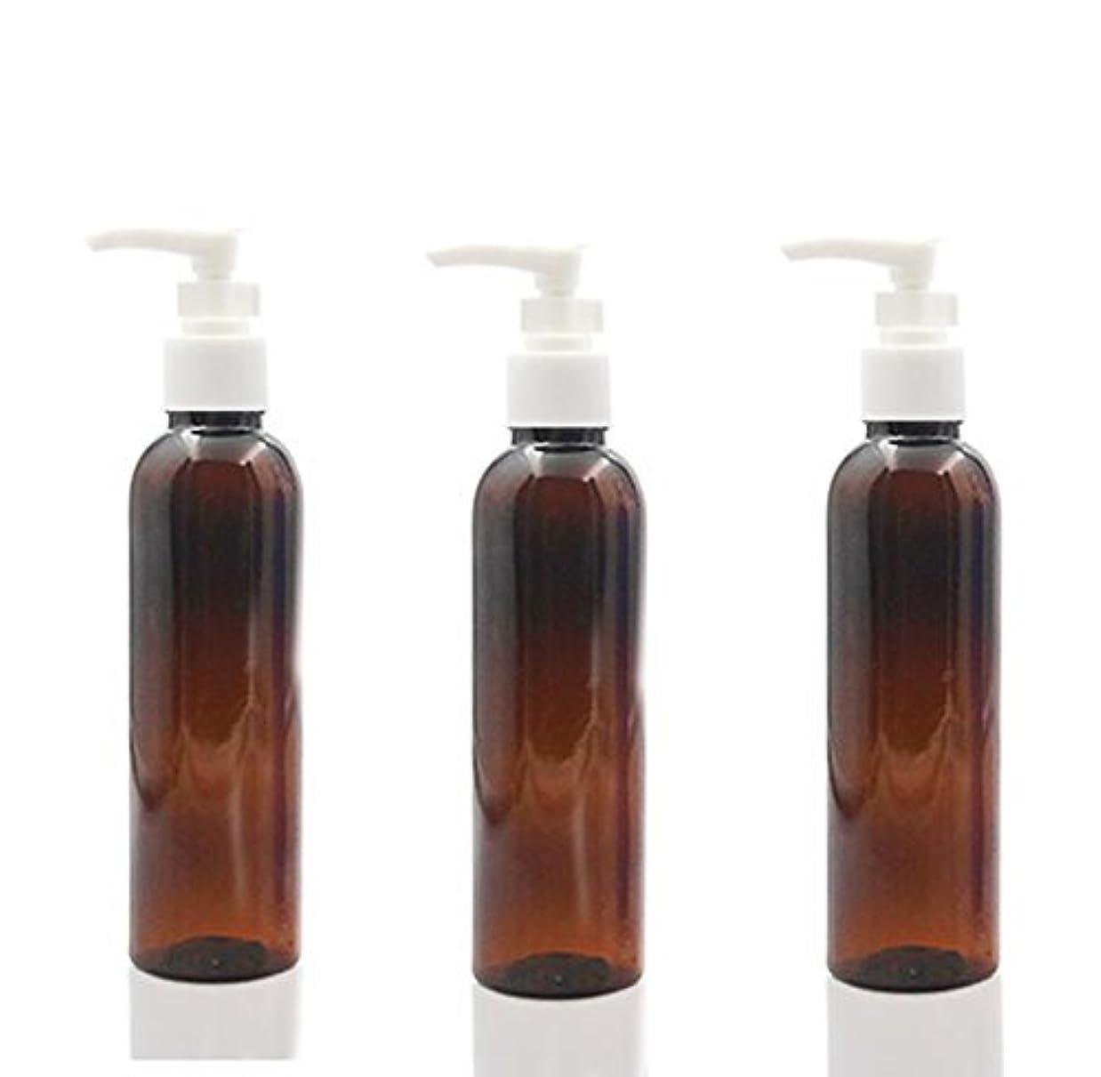 農村旅戸惑う3PCS 150ml Plastic Round Pump Bottles for Cooking Sauces Essential Oils Lotions Liquid Soaps or Organic Beauty...