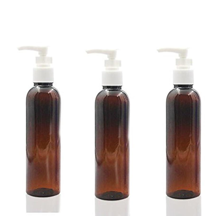 家具現在敵対的3PCS 150ml Plastic Round Pump Bottles for Cooking Sauces Essential Oils Lotions Liquid Soaps or Organic Beauty...
