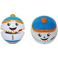 Keaner新生児幼児Roly - PolyおもちゃサウンドとライトパズルクラスSinging投影ストーリータンブラー(ホワイト雪だるま)