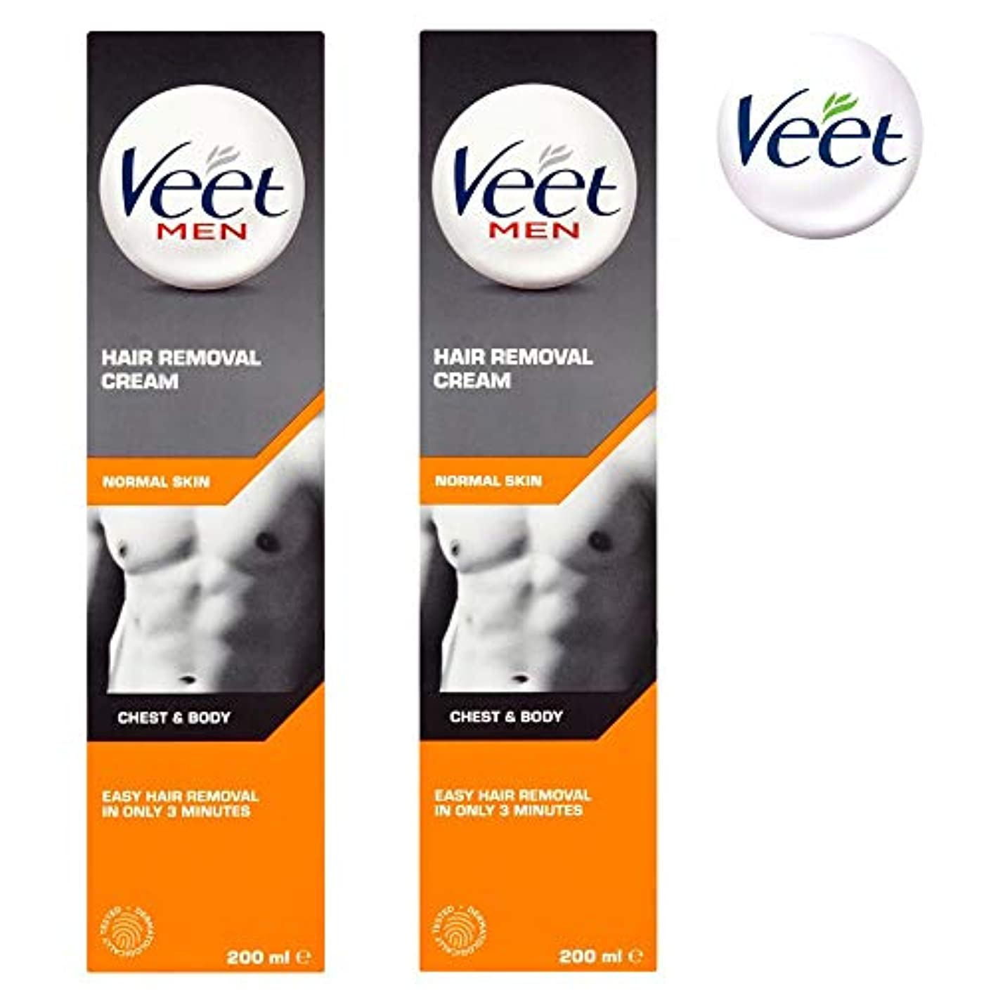ミスアトムデンプシー2 X Veet for Men Hair Removal Creme 200 ml-FREE UK DELIVERY by Veet