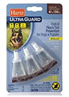 HARTZ UltraGuard Flea & Tick Drops for Dogs & Puppies 61-150lbs - 3 Monthly Treatment [並行輸入品]