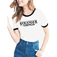 YEMOCILE Donna Stranger Things Serie TV Manica Corta Casual Maglietta T Shirt Blouse Tops