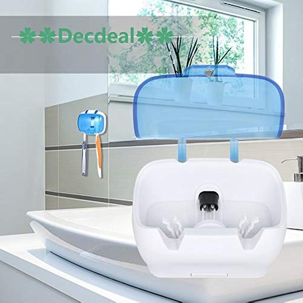 枯渇パワーセルターゲットDecdeal UV滅菌キャビネット 多機能消毒クリーンツール プロフェッショナル ネイルアート機器トレイ 温度殺菌ツール 5W 220V USプラグ (歯ブラシUV消毒ボックス)