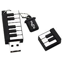 jingyu ミニピアノ 64gb USBフラッシュドライブ メモリースティック デジタル日付ストレージ 32gb ブラック N420M1354EX