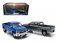 First Cut 2014 Chevrolet Silverado Pickup Trucks Hobby Only Exclusive 2 Cars Set 1/64 Diecast Models by Greenlight サイズ : 1/64 [並行輸入品]