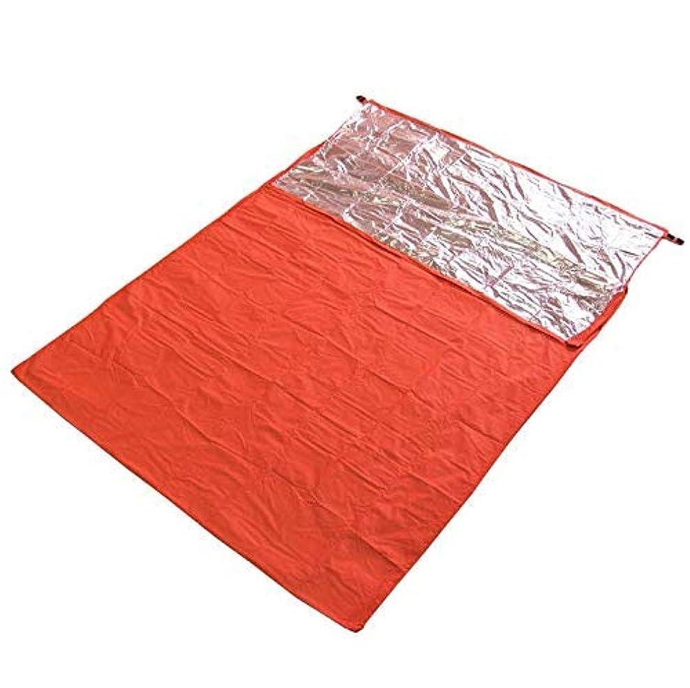 アレルギー性プリーツどうやら寝袋 シュラフカバー 封筒型 アウトドア キャンプ ハイキング スリーピングバッグ 自己発熱タイプ オレンジ 3サイズ選べ