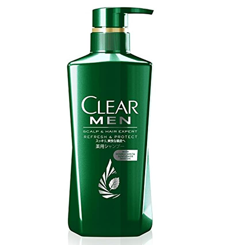 争う平均アラーム[医薬部外品] クリア フォーメン リフレッシュ&プロテクト 薬用シャンプー ポンプ (スッキリ、爽快な頭皮へ) 350g